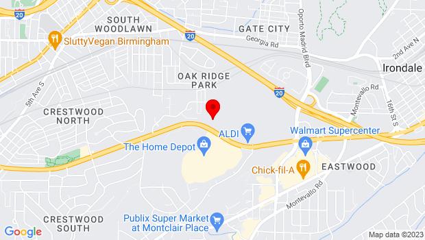 Google Map of 6400 Crestwood Blvd, Birmingham, AL 35201