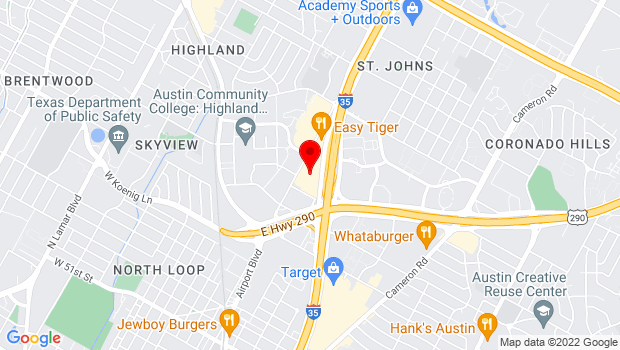 Google Map of 6406 N IH-35 Frontage Road, Suite 3100, Austin, TX 78752