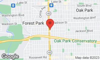 Map of 641 South Maple Avenue C OAK PARK, IL 60304