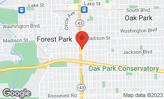 Map of 641 South Maple Avenue I OAK PARK, IL 60304