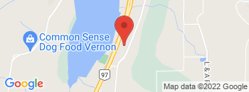 Google Map of 6425+Highway+97+North%2CVernon%2CBritish+Columbia+V1B+3R4