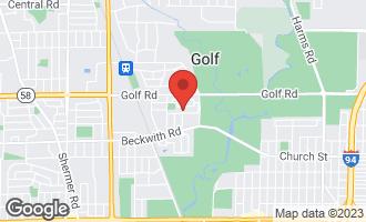 Map of 6428 Hoffman Terrace MORTON GROVE, IL 60053