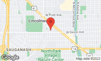 Map of 6430 North Hamlin Avenue LINCOLNWOOD, IL 60712