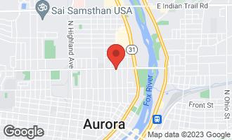 Map of 644 Palace Street AURORA, IL 60506
