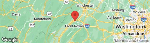 Map of 646 KING STREET W STRASBURG, VA 22657