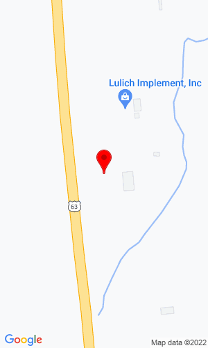 Google Map of Lulich Implement 64850 US Highway 63, Mason, WI, 54856