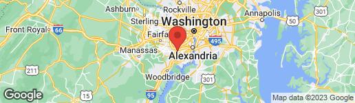 Map of 6490 FRANCONIA ROAD SPRINGFIELD, VA 22150