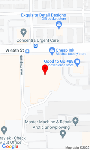 Google Map of Forklift Exchange, Inc. 6499 W. 65th St., Bedford Place, IL, 60638