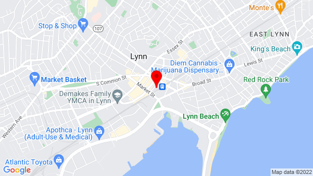 Google Map of 65 Munroe St., Lynn, MA 01901