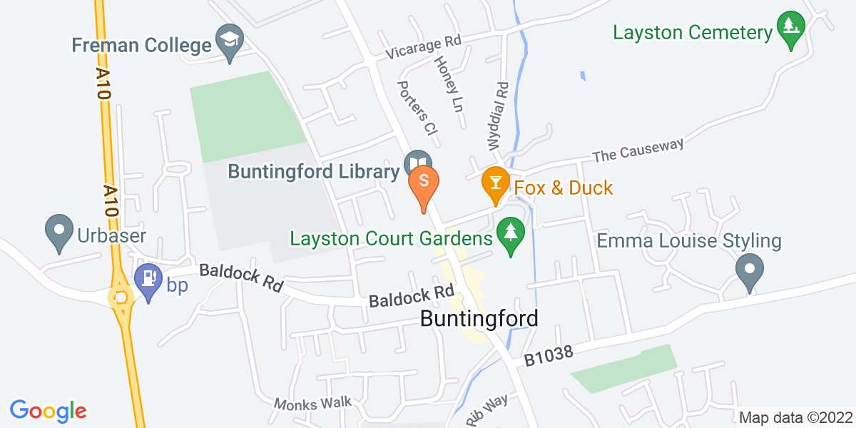Google Map of 65-67 High Street Buntingford SG9 9AE