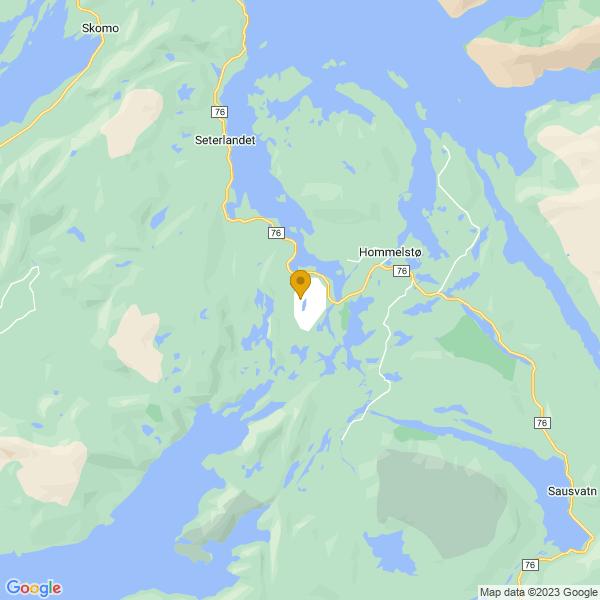 Google Map of 65.39373808371035,12.490280656542154