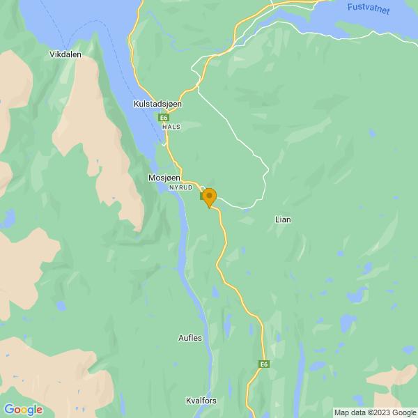 Google Map of 65.82408749999999,13.2373034