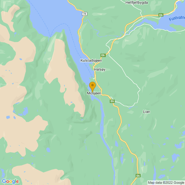 Google Map of 65.8373012,13.189987