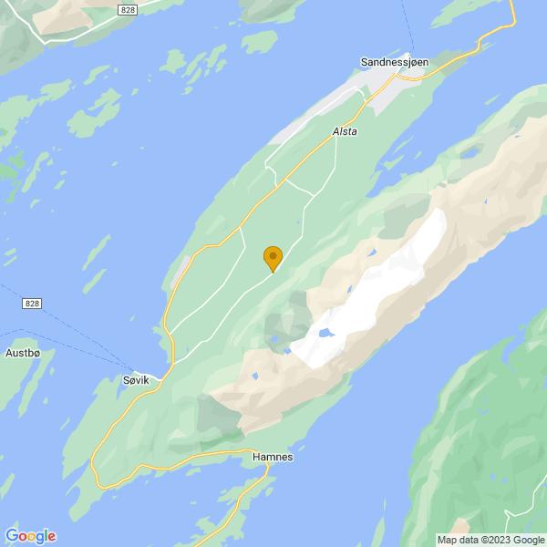 Google Map of 65.95693465063043,12.540041820520969