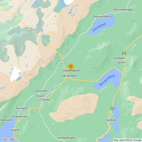Google Map of 65.99948479999999,13.2994522