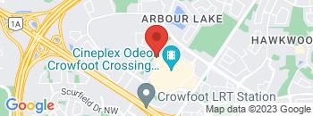 Google Map of 650+Crowfoot+Crescent+NW%2CCalgary%2CAlberta+T3G+4S3