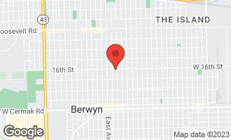 Map of 6508 16th Street BERWYN, IL 60402