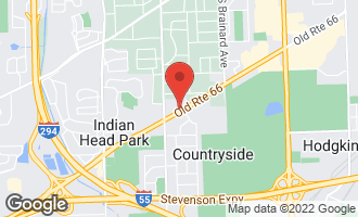 Map of 6525 Joliet Road COUNTRYSIDE, IL 60525