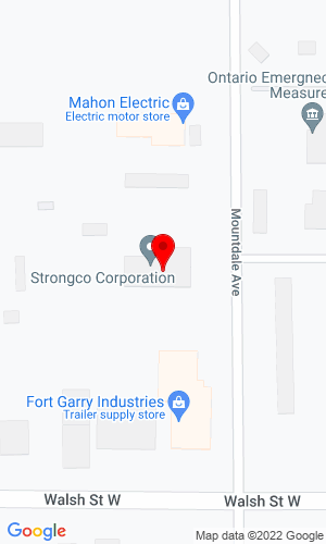 Google Map of Strongco 655 Mountdale Avenue, Thunder Bay, Ontario, Canada, P7E6E5