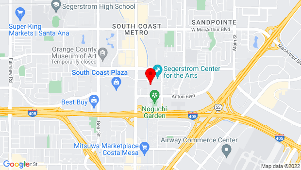 Google Map of 655 Town Center Drive, Costa Mesa, CA