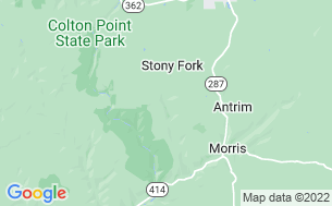 Map of Stony Fork Creek Campground