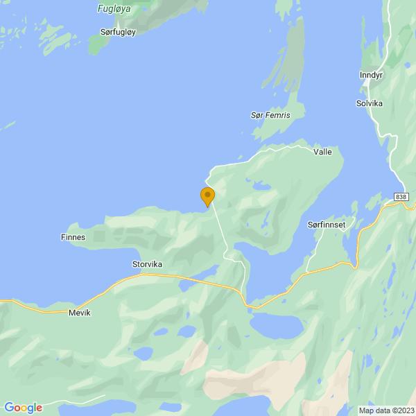 Google Map of 66.9852196,13.8673509