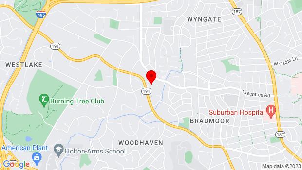 Google Map of 6601 Bradley Blvd, Bethesda, MD 20817