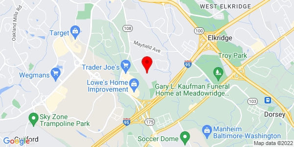 Google Map of 6610 Devlon Pl Elkridge, MD 21075