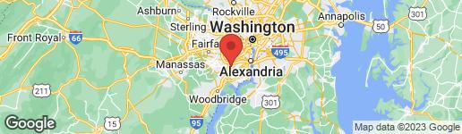Map of 6617 GREENLEAF STREET SPRINGFIELD, VA 22150