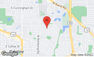Map of 663 North Clark Drive PALATINE, IL 60074
