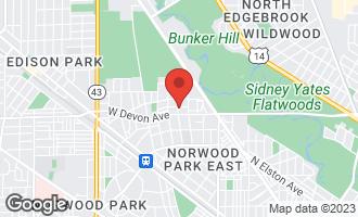 Map of 6635 West Schreiber Avenue CHICAGO, IL 60631