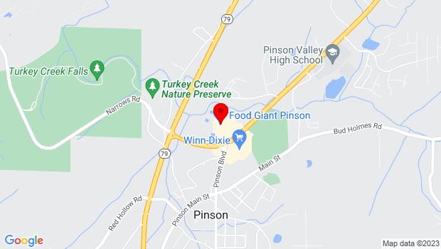 Google Map of 6662 AL Highway 75, Pinson, AL 35126