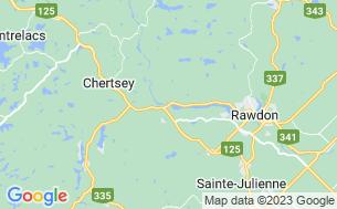 Map of Camping Ô Cascades De Rawdon