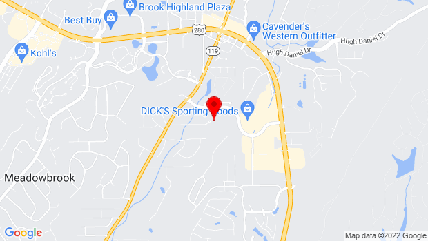 Google Map of 6690 Cahaba Valley Road, Birmingham, AL 35242