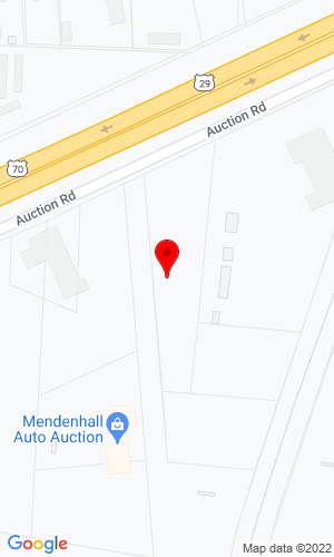 Google Map of Mendenhall Auction Co., Inc. 6695 Auction Road , High Point, NC, 27264