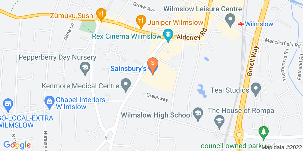 Google Map of 67 Alderley Road Wilmslow SK9 1NZ