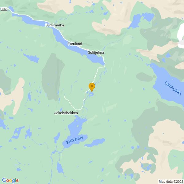 Google Map of 67.09870048231225,16.06745964702145