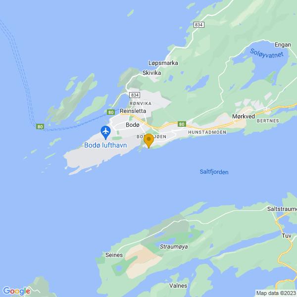 Google Map of 67.26757248065846,14.427241964979961