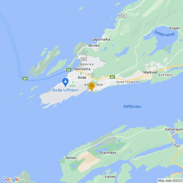 Google Map of 67.26806909999999,14.4265214