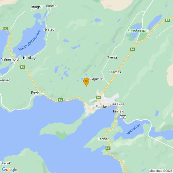 Google Map of 67.2778793,15.3566486