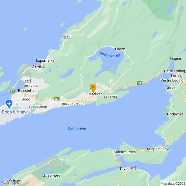 Google Map of 67.2855763,14.5537492