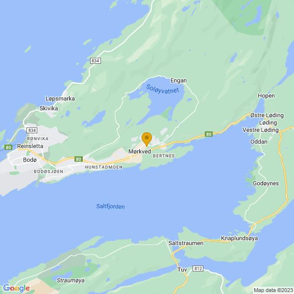 Google Map of 67.2871669,14.5691714