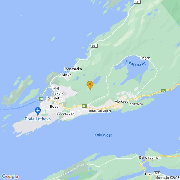 Google Map of 67.29493,14.4870948