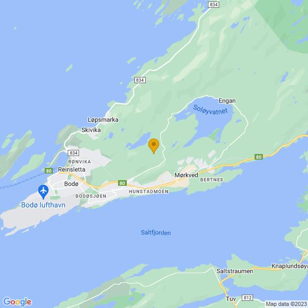 Google Map of 67.2955837,14.515394