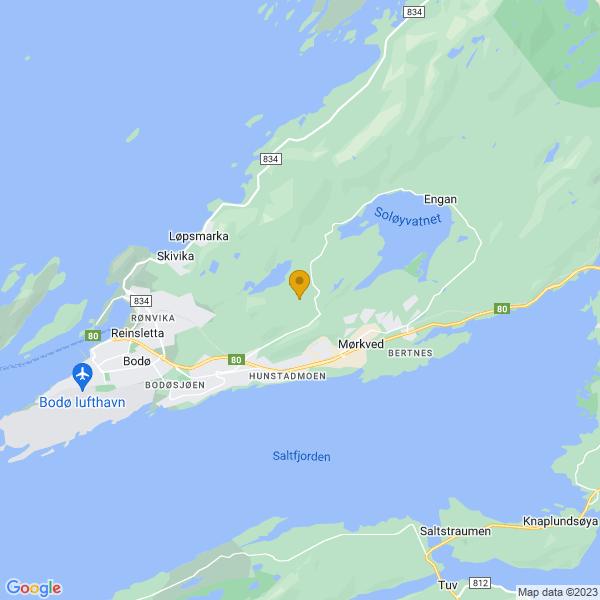 Google Map of 67.29647,14.5168876