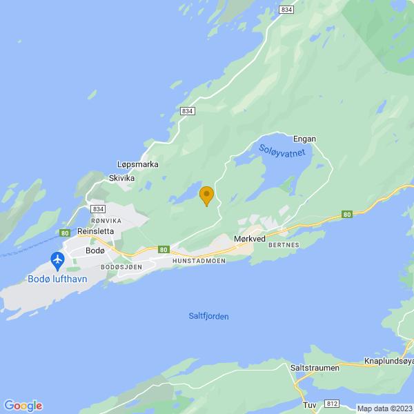 Google Map of 67.29697639999999,14.5162661