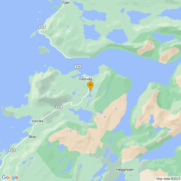 Google Map of 67.4247231,14.7736953