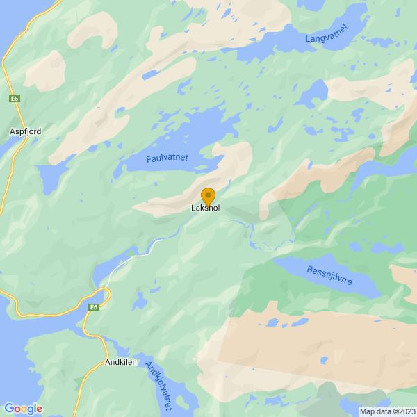 Google Map of 67.45214445906711,15.774696826826341