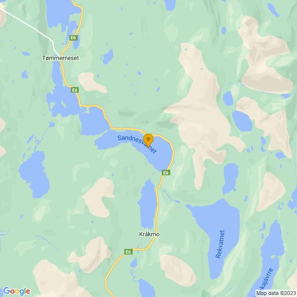 Google Map of 67.8515743,15.9814455