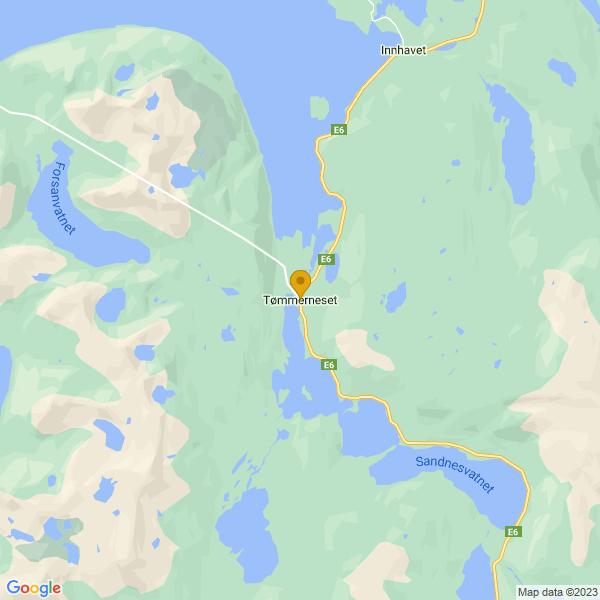 Google Map of 67.8988084,15.8597606